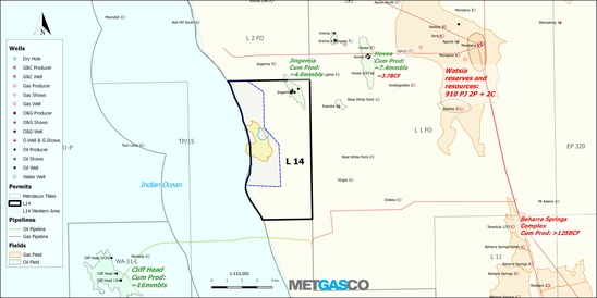 Cervantes - Significant Prospective Resources Mapped | Metgasco